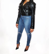 Load image into Gallery viewer, Mel| Oversized Belt Leather Jacket