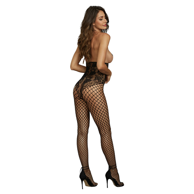 Dreamgirl Black Diamond Åben Cup Bodystocking