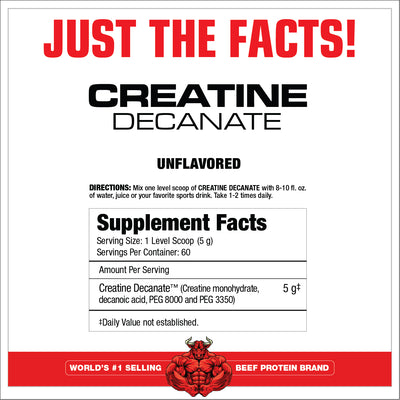 CARNIVOR CREATINE DECANATE SUPPLEMENT FACTS