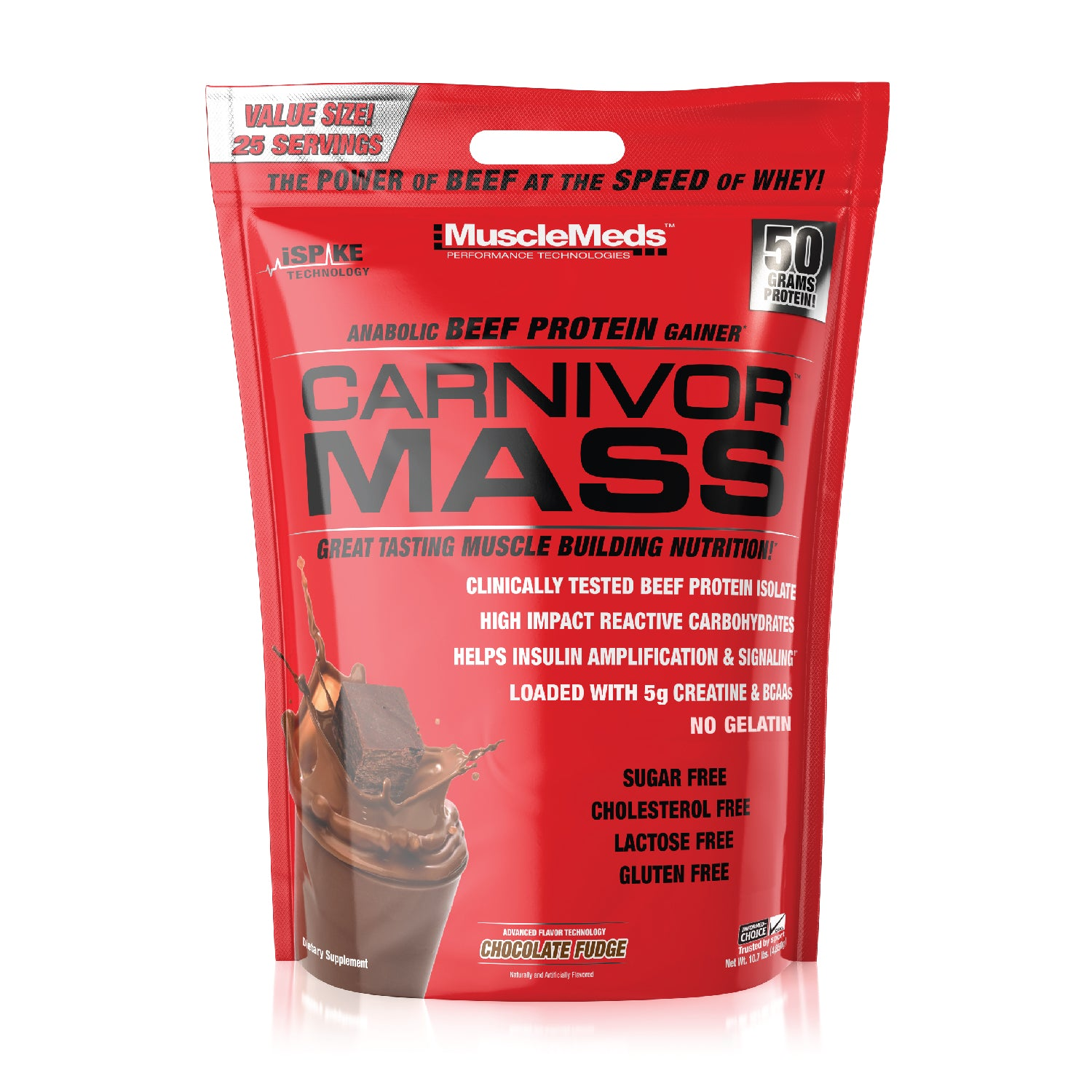 CARNIVOR MASS 10LB BAG CHOCOLATE FUDGE
