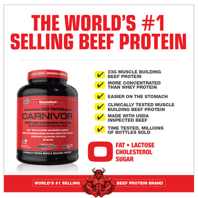 CARNIVOR, WORLD'S #1 SELLING BEEF PROTIEN