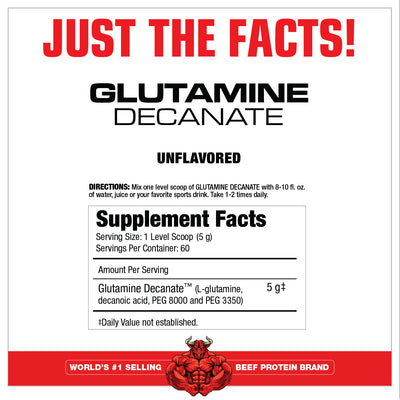 GLUTAMINE DECANATE SUPPLEMENT FACTS