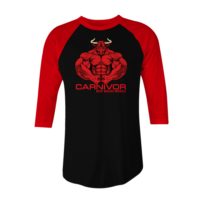 Carnivor Baseball 3/4 Sleeve T-Shirt