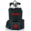 Deluxe Mesh Gym Bag Black/White (Over-Shoulder)