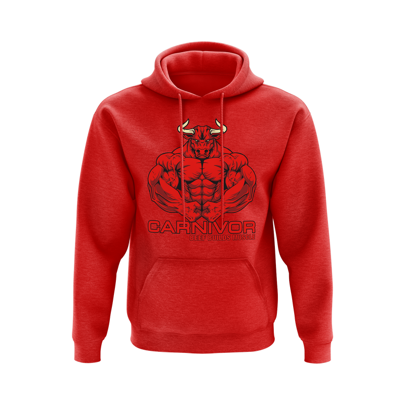 CARNIVOR BULL Hoodie - Red on Red