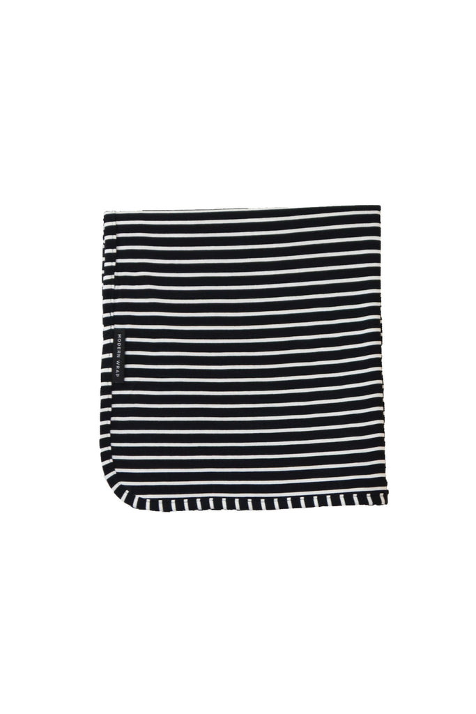swaddle wrap · black & white stripe