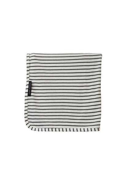 swaddle wrap · natural & grey stripe