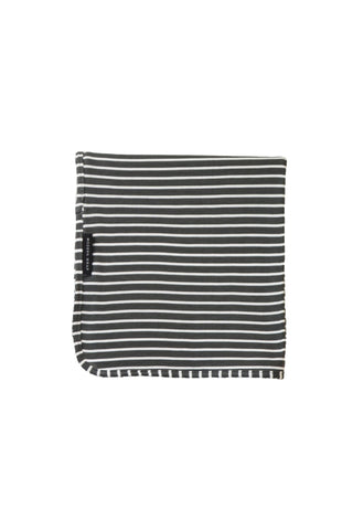 swaddle wrap · pewter & white stripe