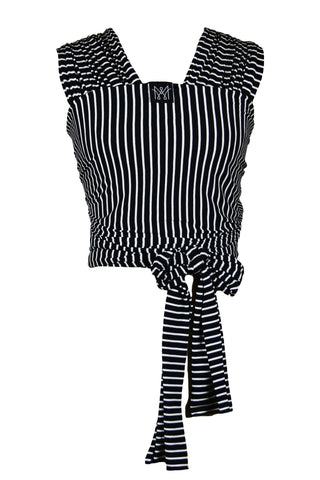 classic carrier wrap · black & white stripe
