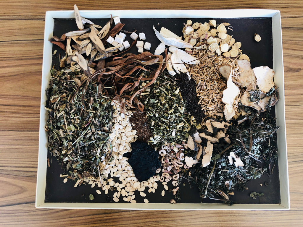 Herbs used for one of our proprietary herbal formulas