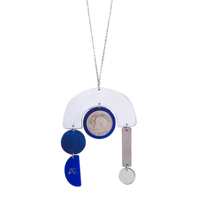 Blue Tripod Necklace - Kowli Shop
