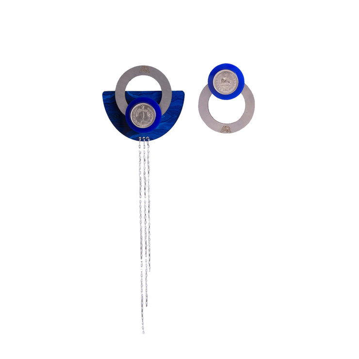 Blue Shou Earrings - Kowli Shop