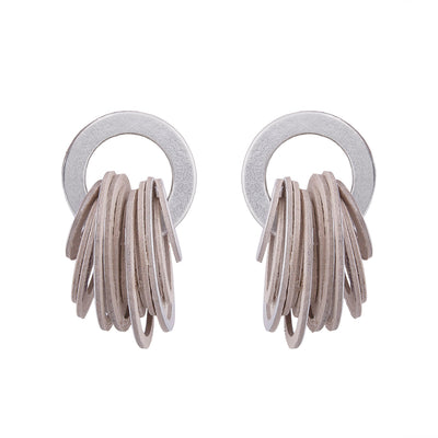 Papier-Mâché Circle Earrings- Dalangoo - Kowli Shop