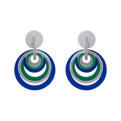 Papier-Mâché Blue Earrings- Dalangoo - Kowli Shop