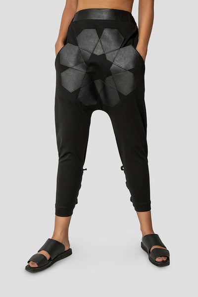 Geometric Black Trousers - Kowli Shop