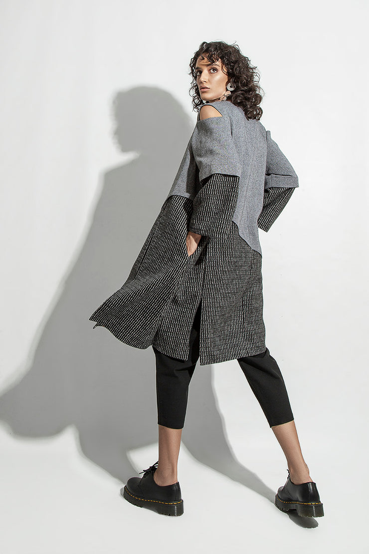 Gray Wave Coats - Kowli Shop