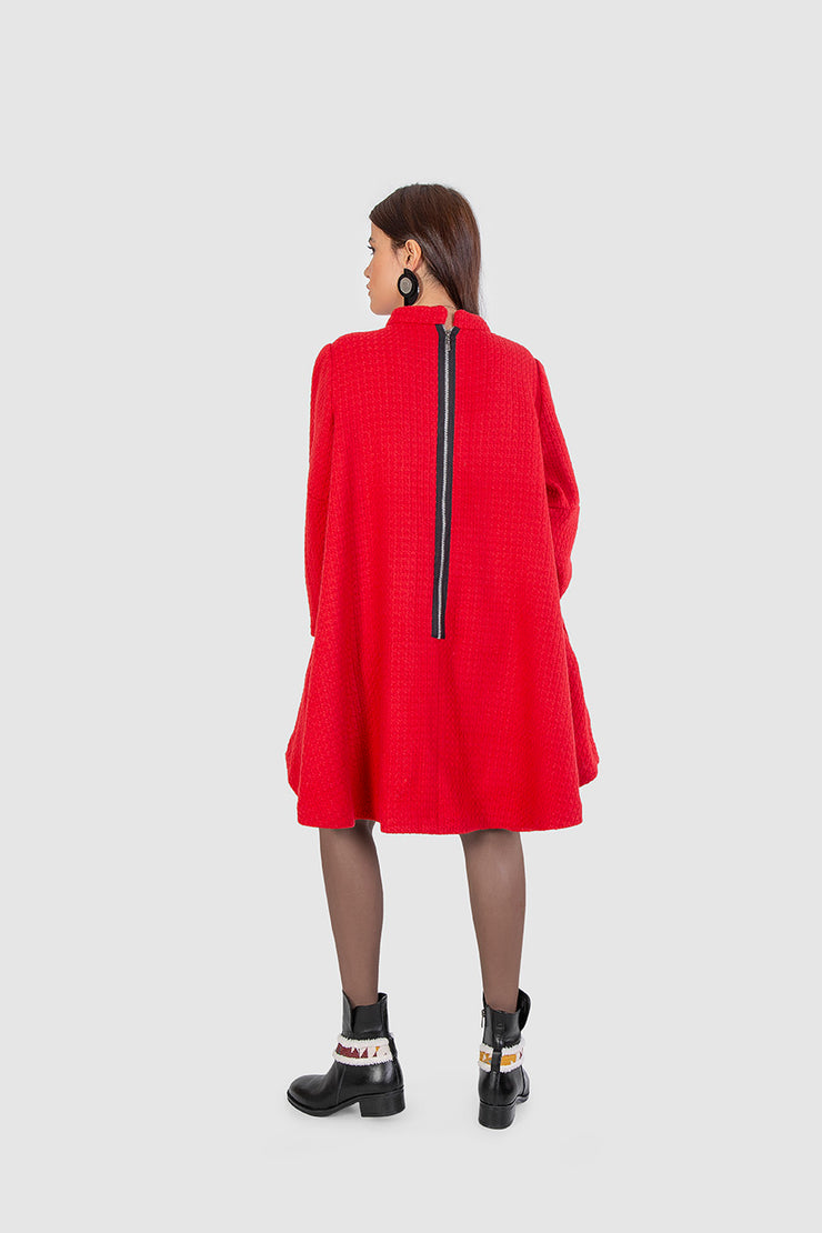 Red Cloche Dress - Kowli Shop