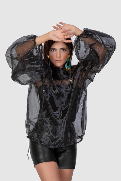Black Organza Blouse - Kowli Shop