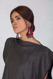 Red Drop Earrings - Kowli Shop