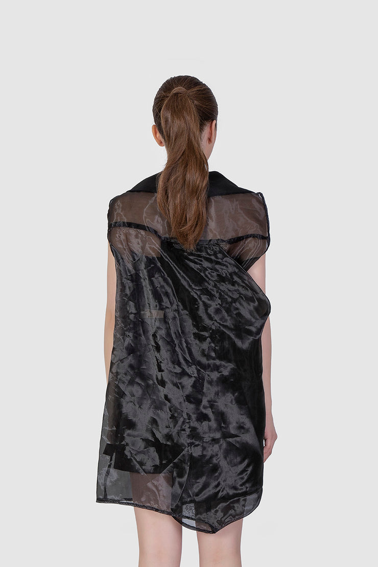 Black Organza Dress - Kowli Shop
