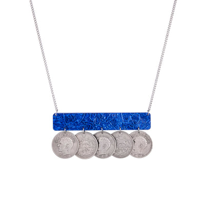 Geometric Necklace with Pahlavi Coins - Kowli Shop
