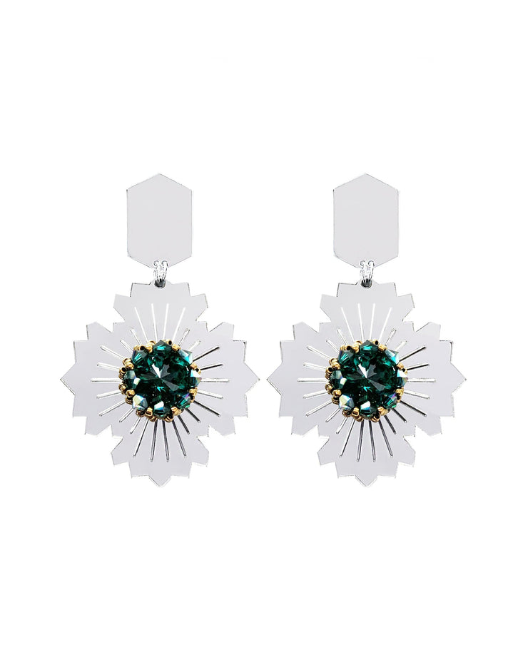 Tehran-Emrald Earrings - Kowli Shop
