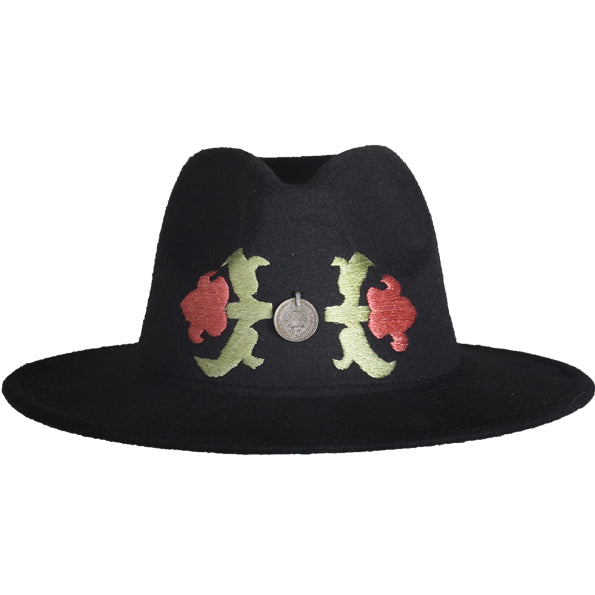 Coin Flower Fedora Hat
