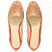 Lilian of Banaras Red Ballet Flats - Kowli Shop