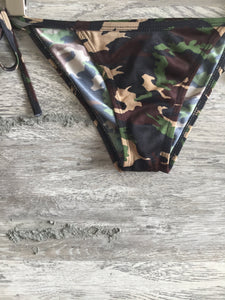 Camo String Swim Bottoms - Closet Freekz