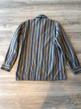 Fieldmaster Grey and Blue Stripe Button Up