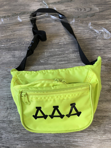Tri Delta Lime Green Fanny Pack - Closet Freekz