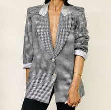 Silver and Black Houndstooth Blazer - Closet Freekz