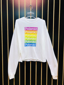 Polaroid Rainbow White Long-Sleeve T-Shirt