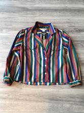 Ship n' Shore Red and Blue Striped Button Up
