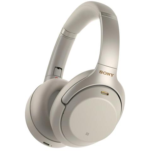 Sony WH1000XM3 Wireless Noise Cancelling Over-Ear Headphones (Silver)