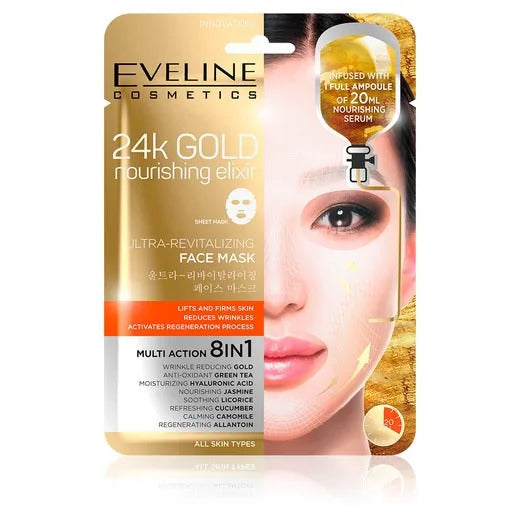 Eveline 24K Gold Ultra-Revitalizing Face Sheet Mask