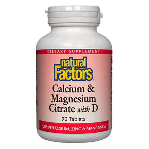 Natural Factors Calcium Magnesium Citrate With D 90 TAB