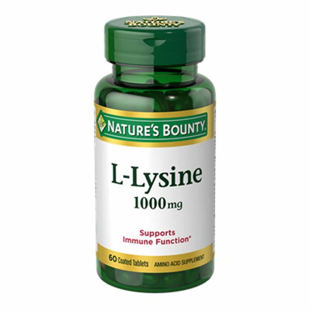 Nature's Bounty L-Lysine 1000 MG 60 Coated Tabs