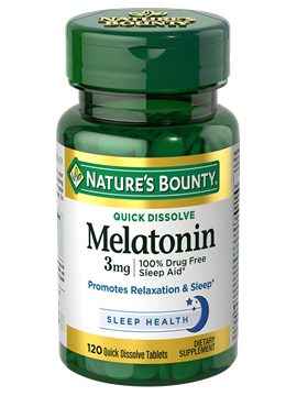 Nature's Bounty Melatonin 3 MG 120 Quick Dissolve Tabs