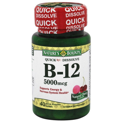 Nature's Bounty Vitamin B-12 5,000 MCG 40 Tabs