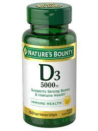 Nature's Bounty Vitamin D3 5000 IU 150 Rapid Release Softgels