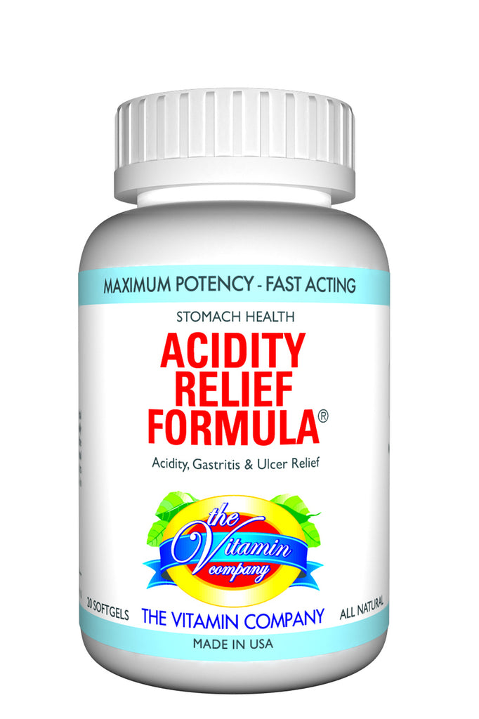 The Vitamin Company Acidity Relief Formula 20 Softgels