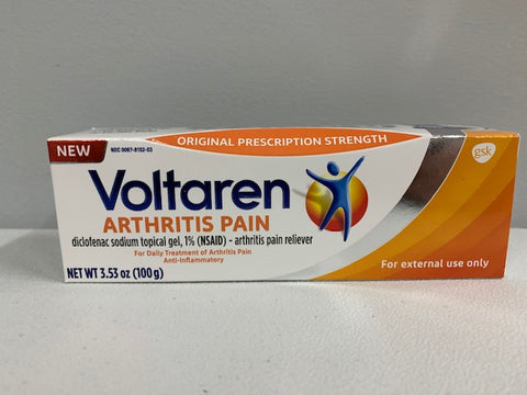 Voltaren Topical Arthritis Pain Relief Gel - 3.53 Ounce Tube (100g)
