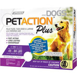 PetAction Plus Flea, Tick & Lice Treatment, for Large Dogs, 45-88 lbs - 3 pack