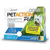 PetAction Plus Flea, Tick & Lice Treatment, for Small Dogs, 6-22 lbs - 3 pack