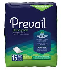 "Prevail Underpads, Large 23' x 36"", Fluff Absorbent Protection, 15 count"