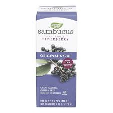 Nature's Way Original Sambucus Elderberry Syrup, Herbal Supplements, Gluten Free, Vegetarian, 4 Ounce