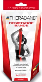 TheraBand Exercisers Non-Latex Resistance Band (Beginner Set)