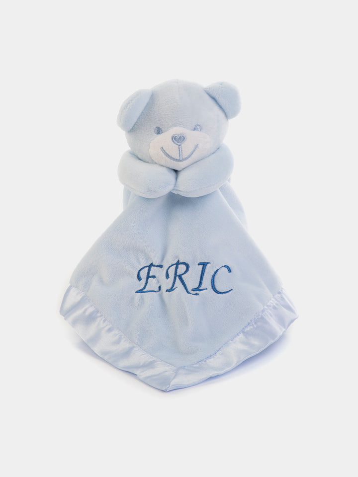 Personalised Baby Bear Comforter - Baby Blue