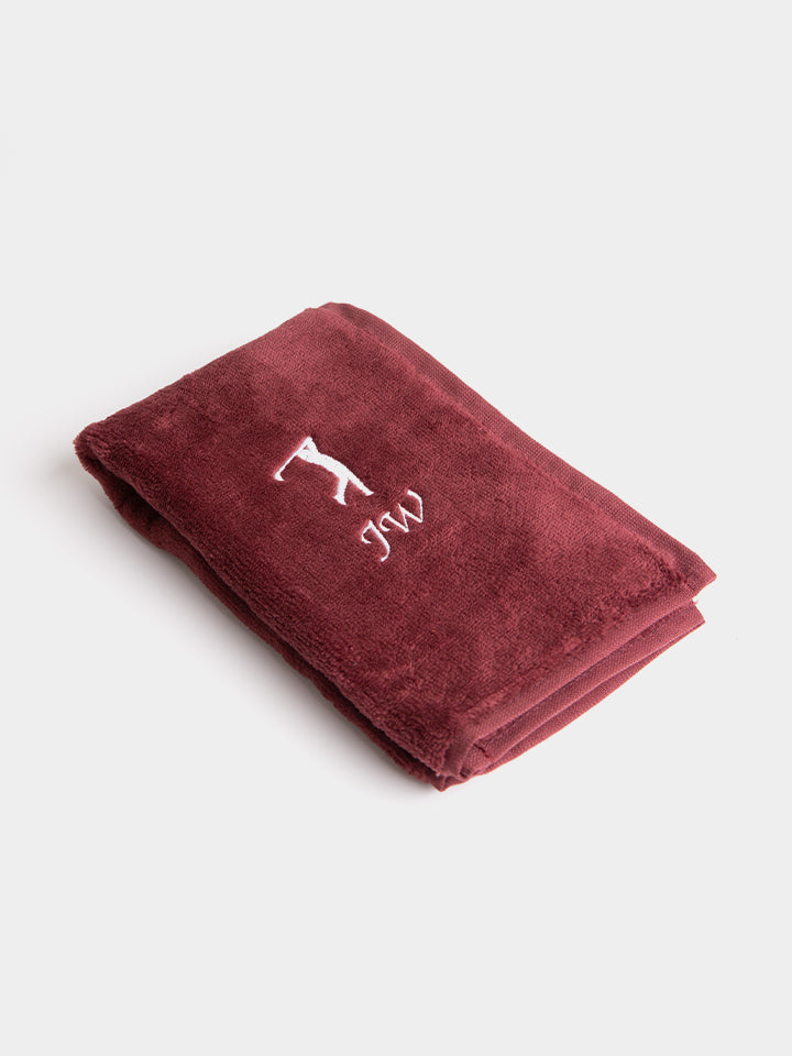 Personalised Tri-Fold Golf Towel - Burgundy